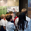 Image of students in the Visitor Education Center.